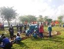 Học sinh ươm cây xanh trồng ở nghĩa trang, di tích lịch sử