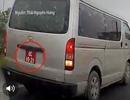 Xe biển đỏ chạy lùi trên cao tốc Hà Nội - Thái Nguyên