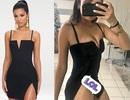 Cô gái hết hồn khi diện thử váy xẻ được mua online