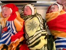 Người mẹ trẻ hạnh phúc đón 3 bé gái xinh xắn chào đời