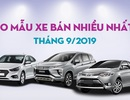 Top 10 mẫu xe bán nhiều nhất tháng 9/2019: Xpander bám riết Vios