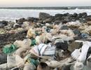 Phú Yên: Bãi biển TP. Tuy Hòa ngập rác sau mưa