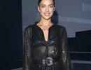 Irina Shayk mặc áo xuyên thấu đi xem thời trang