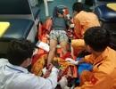 Cấp cứu thuyền viên bị tai nạn lao động đứt lìa bàn chân phải trên vùng biển Hoàng Sa
