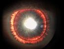 Người đàn ông có đôi mắt phát ánh sáng đỏ
