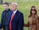 Cậu út nhà Trump mới 13 tuổi đã cao hơn 1,9 mét