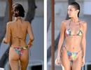 Bella Hadid diện bikini thư thái ngồi tắm nắng