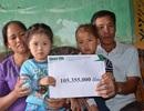 Vợ chồng nghèo bán ruộng cứu con được bạn đọc giúp đỡ hơn 105 triệu đồng