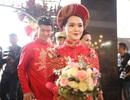 """Cô dâu """"hot girl"""" của Duy Mạnh rạng ngời trong sắc đỏ ngày ăn hỏi"""