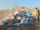 Tiêu hủy hơn 5000 sản phẩm các loại và trên 840 gói cà phê bột không rõ nguồn gốc