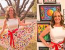 Mỹ: Giáo viên diện chiếc váy có họa tiết do học sinh tiểu học vẽ gây sốt