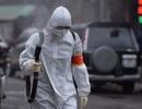 Hà Nội: Xe Quân đội triển khai tiêu độc khử trùng phố Trúc Bạch