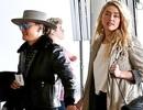 Amber Heard tay trong tay hạnh phúc với bạn gái ở sân bay