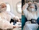 """Chi Pu gây chú ý với đồ bảo hộ kín """"từ đầu đến chân"""" khi đi máy bay"""
