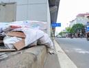 Hành lang đường sắt Cát Linh - Hà Đông thành nơi đổ rác