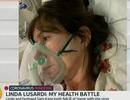 Người mẫu Linda Lusardi khóc khi nghĩ sắp chết vì Covid-19