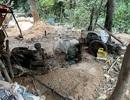 Đường hầm dài hàng chục mét tại điểm khai thác vàng trái phép