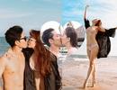 Khánh Thi mặc bikini sexy, được chồng trẻ hôn đắm đuối bên bãi biển