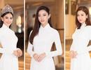 Hoa hậu Đỗ Mỹ Linh, Trần Tiểu Vy, Lương Thuỳ Linh đọ dáng với áo dài trắng