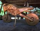 Độc đáo mô hình xe máy, ô tô, tàu hỏa làm từ tre Việt
