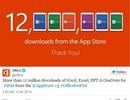 """Microsoft """"khoe"""" 12 triệu lượt tải Office cho iPad trong 1 tuần"""