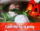 Canh thịt bò lá giang