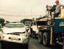 Tai nạn giao thông liên hoàn, 1 ôtô bốc cháy
