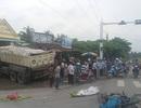 Xe tải tông sập cửa hàng bán thuốc tây