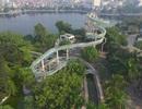 Cảnh hoang tàn bên trong công viên nước hoành tráng giữa Thủ đô