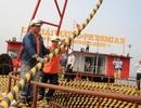 Đứt neo xà lan trong quá trình kéo điện ra Cù Lao Chàm