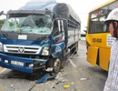 Tai nạn liên hoàn, Quốc lộ 1A kẹt cứng gần 2 giờ