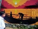 """Ngỡ ngàng những bức họa độc đáo """"đậu"""" trên tường ở làng chài Tam Kỳ"""