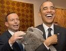 Lãnh đạo G20 thay nhau bế gấu túi