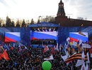 Tổng thống Putin và 100.000 người hát quốc ca mừng 1 năm Crimea sáp nhập