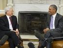 Hình ảnh Tổng thống Hoa Kỳ tiếp Tổng Bí thư tại phòng Bầu dục