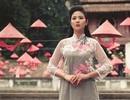Hoa hậu Ngọc Hân duyên dáng áo dài lấy cảm hứng từ các loài hoa