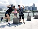 Vợ chồng siêu mẫu Trang Nhung đưa nhóc tì vi vu kì nghỉ lễ