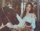 Elly Trần kể chuyện Lọ Lem cho hai con qua bộ ảnh cổ tích