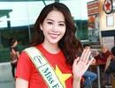 Nam Em mặc áo cờ Tổ quốc, chính thức lên đường thi Miss Earth
