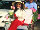 Dàn nghệ sĩ gạo cội diễu hành áo dài trên các tuyến phố Hà Nội