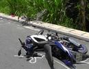 Cụ ông đi xe đạp bị xe máy tông văng xa gần 20m