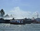 Giả định cảnh 3 tàu đâm nhau bốc cháy, 60 người nhảy xuống sông Tiền
