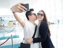 Vợ chồng Hoa hậu Dương Thuỳ Linh hôn nhau say đắm ở sân bay