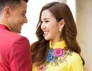 Bắt gặp học trò Phạm Hương tình tứ bên Nam vương Đại sứ Hoàn cầu