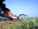 Tiêm kích MiG của Ấn Độ lao xuống đất, bốc cháy ngùn ngụt