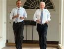 """Obama chạy bộ cùng """"phó tướng"""" trong Nhà Trắng"""