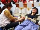 Sinh viên Thủ đô hiến máu ấm nghĩa tình ngày Tết
