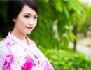 Hoa khôi Ngoại thương khoe dáng yêu kiều trong trang phục Nhật Bản