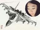 """Nữ sinh 9X vẽ máy bay """"đẹp như thật"""" khiến dân mạng ngưỡng mộ"""
