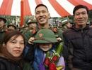 Phút chia tay cảm động trong ngày tân binh Thủ đô lên đường nhập ngũ